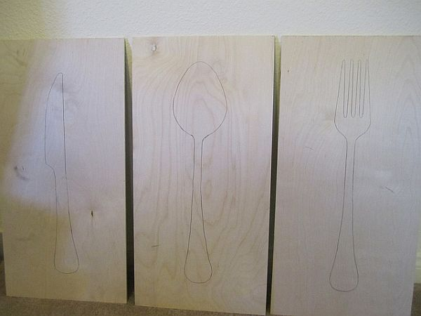 15 easy diy wall art ideas youll fall in love with diy silverware silhouettes solutioingenieria Image collections