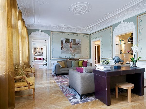 3 Bedroom Apartment With A Classical Interior Design In Sweden