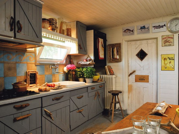 30 french country design inspiration for your kitchen for Plaque bois cuisine