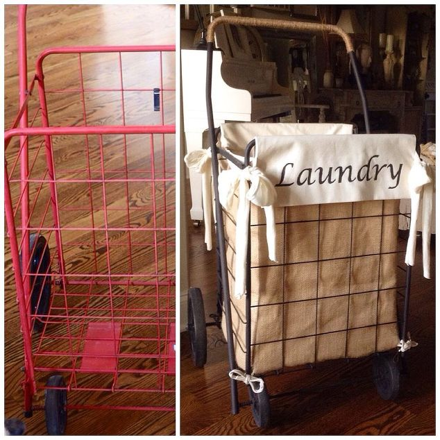 How to update your laundry room with a chic diy hamper granny shopping cart laundry solutioingenieria Image collections