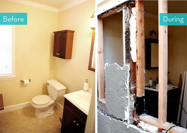And After Small Bathroom Makeovers Big On Style
