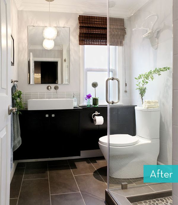 Small Bathroom Makeovers: Before And After Small Bathroom Makeovers Big On Style