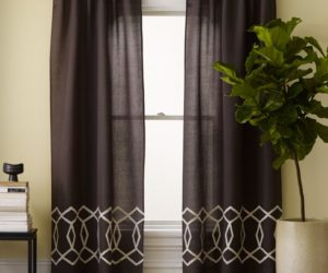 Diamond Links Embroidered Curtains