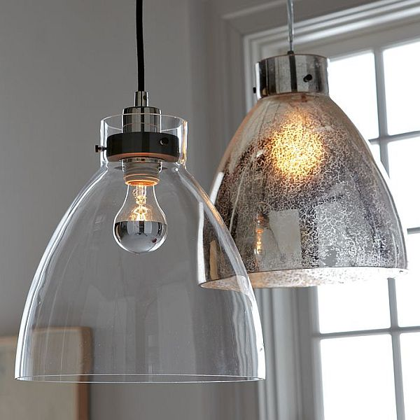 Lovely Minimalist Glass Pendant With An Industrial Design