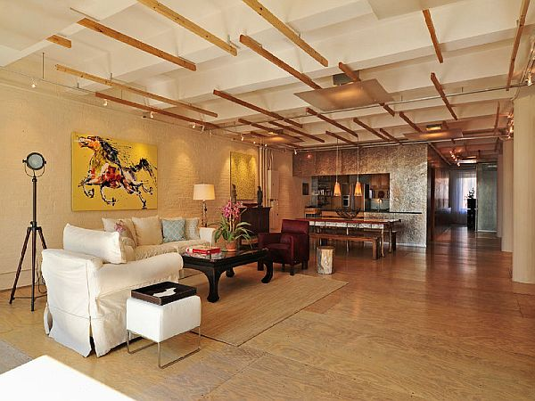 Spacious new york loft with an industrial d cor for New york style interior