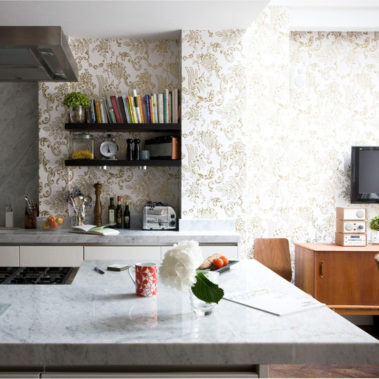wallpaper in kitchen ideas 6 kitchen wallpaper ideas we 22645