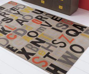 Modern Letter pressed rug