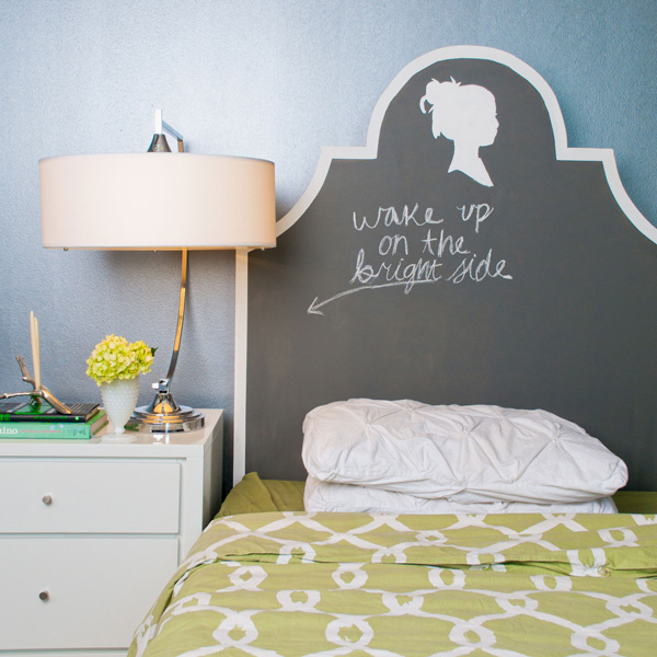 Chalkboard Paint Headboard.