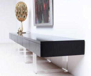 Minimalist and stylish black sideboard