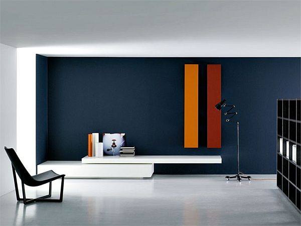 the modular modern wall unit by piero lessoni. Black Bedroom Furniture Sets. Home Design Ideas