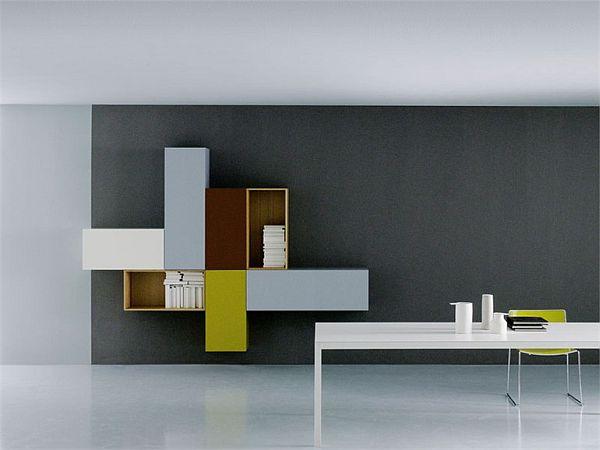 Modular Modern Wall Unit By Piero Lessoni