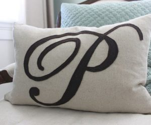Chic DIY monogram pillow