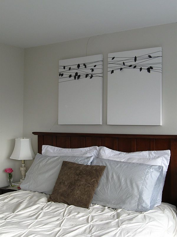 Simple Bedroom Painting Ideas 15 easy diy wall art ideas you'll fall in love with
