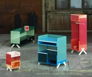 The Colorful PEEP office storage units