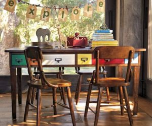 The vintage Brunswick Play Table & Hudson Chairs