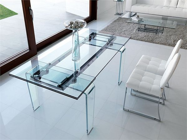 Rectangle Glass Dining Table ghost rectangular dining crystal table