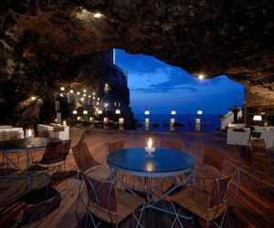 Unique seaside restaurant in a cave in Southern Italy