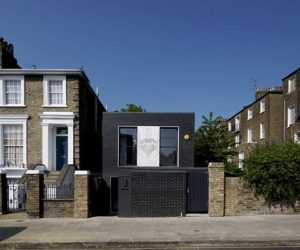 Small House in London With Beautiful Dark Bricks For Walls
