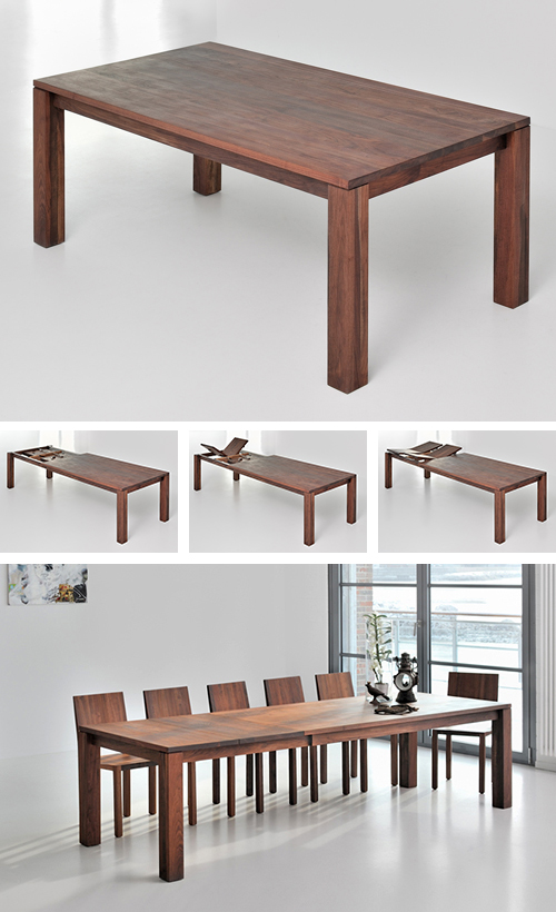 Classic Extending Dining Table From Solid Wood