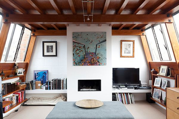 House With Beautiful Wooden Ceiling That Create A Warm