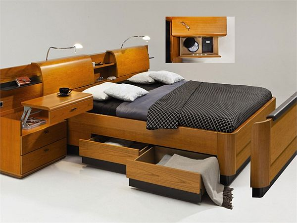 modern storage bed collection from hulsta. Black Bedroom Furniture Sets. Home Design Ideas