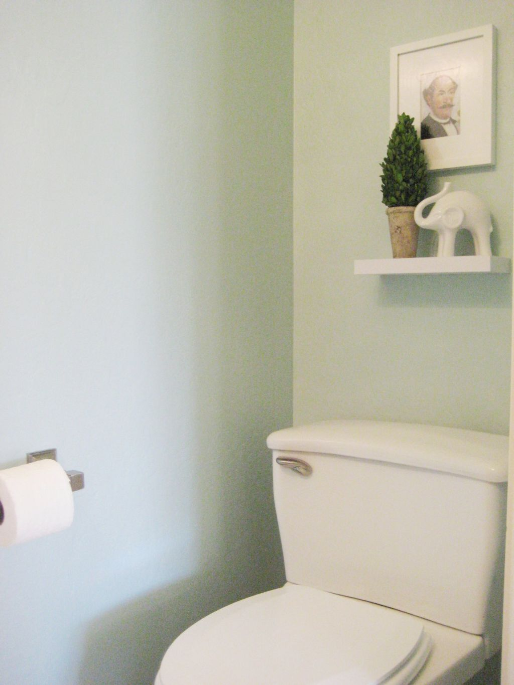 Small Cloakroom Toilet Blue