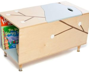 Toy Box With Book Cubby