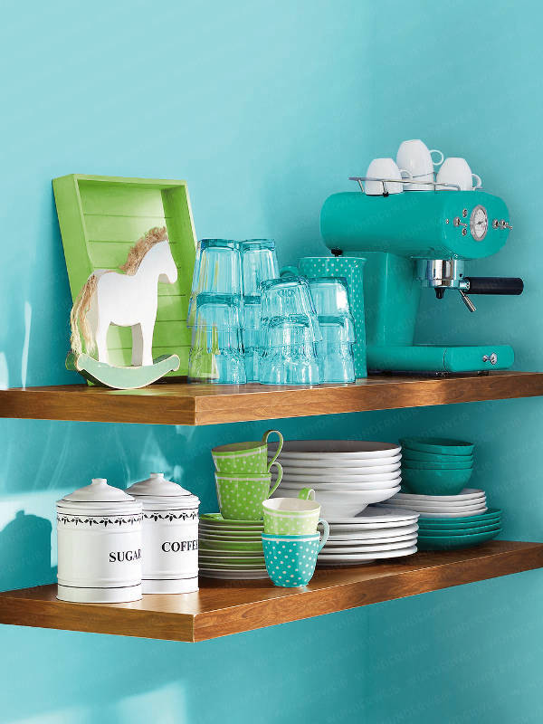 view in gallery - Turquoise Kitchen Decor Ideas