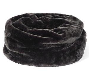 Tuva Faux Fur Bean Bag – Charcoal