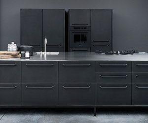Black Vipp kitchen modules