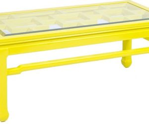 Change Your Room Style With A Yellow Coffee Table