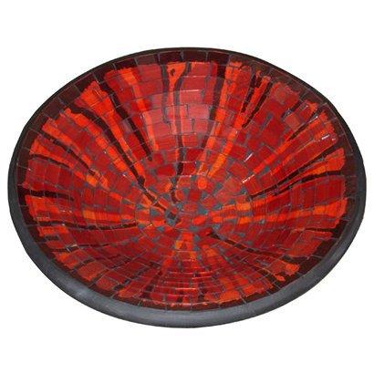 Mosaic Glass Deep Round Platter from Target