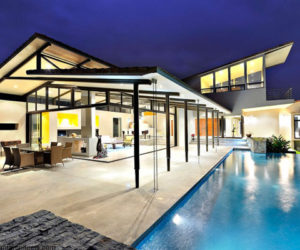 Modern residence connected with nature