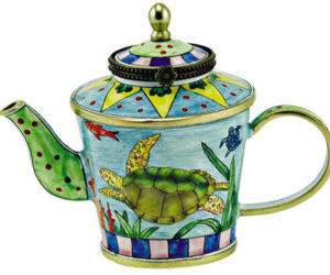 KELVIN CHEN Enamel Mini Teapot with Sea Turtle