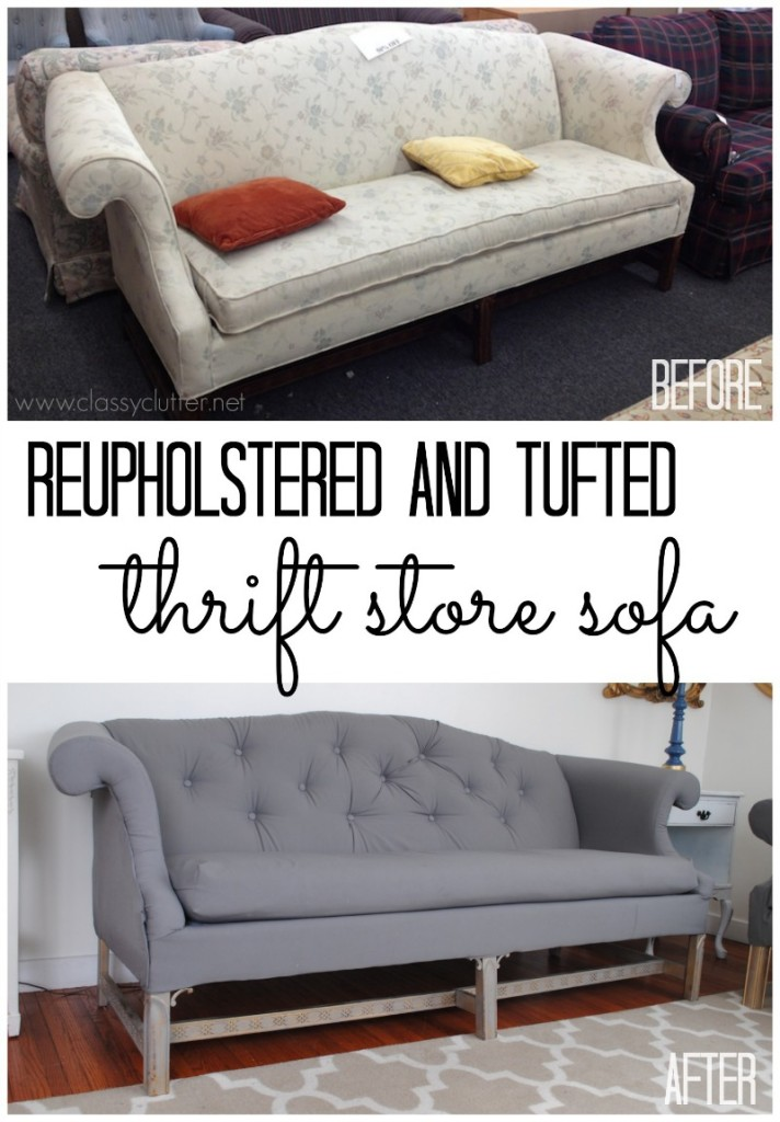 6 Projects Showing How To Reupholster An Old Sofa