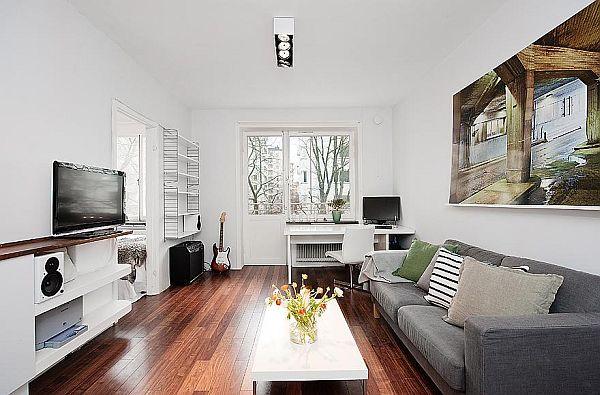 35 Sqm Bright Apartment In Stockholm