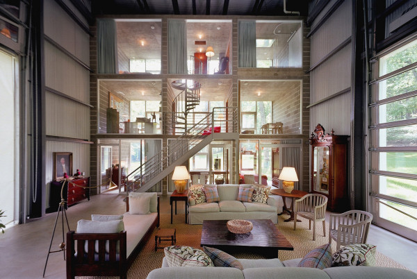 Bunny Lane recycled shipping containers House by Adam Kalkin Interior
