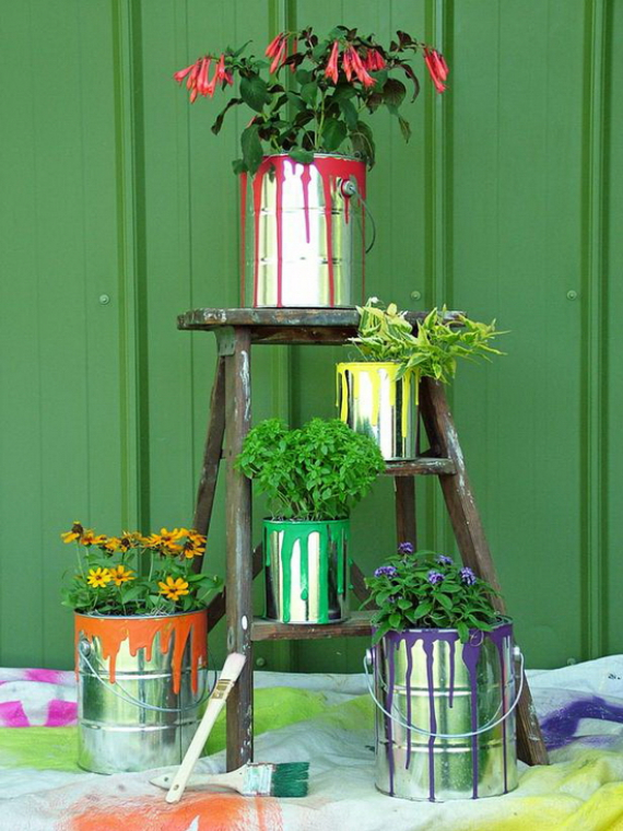 Can planter drip paint
