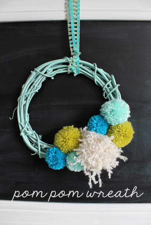 Cool pompom wreath diy
