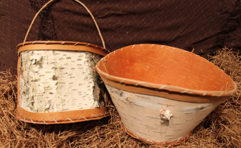 Cute Plant Baskets Made From Birch
