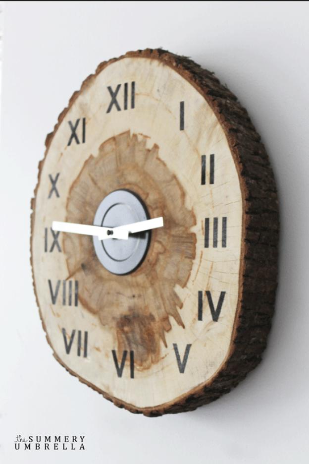 DIY Birch Clock