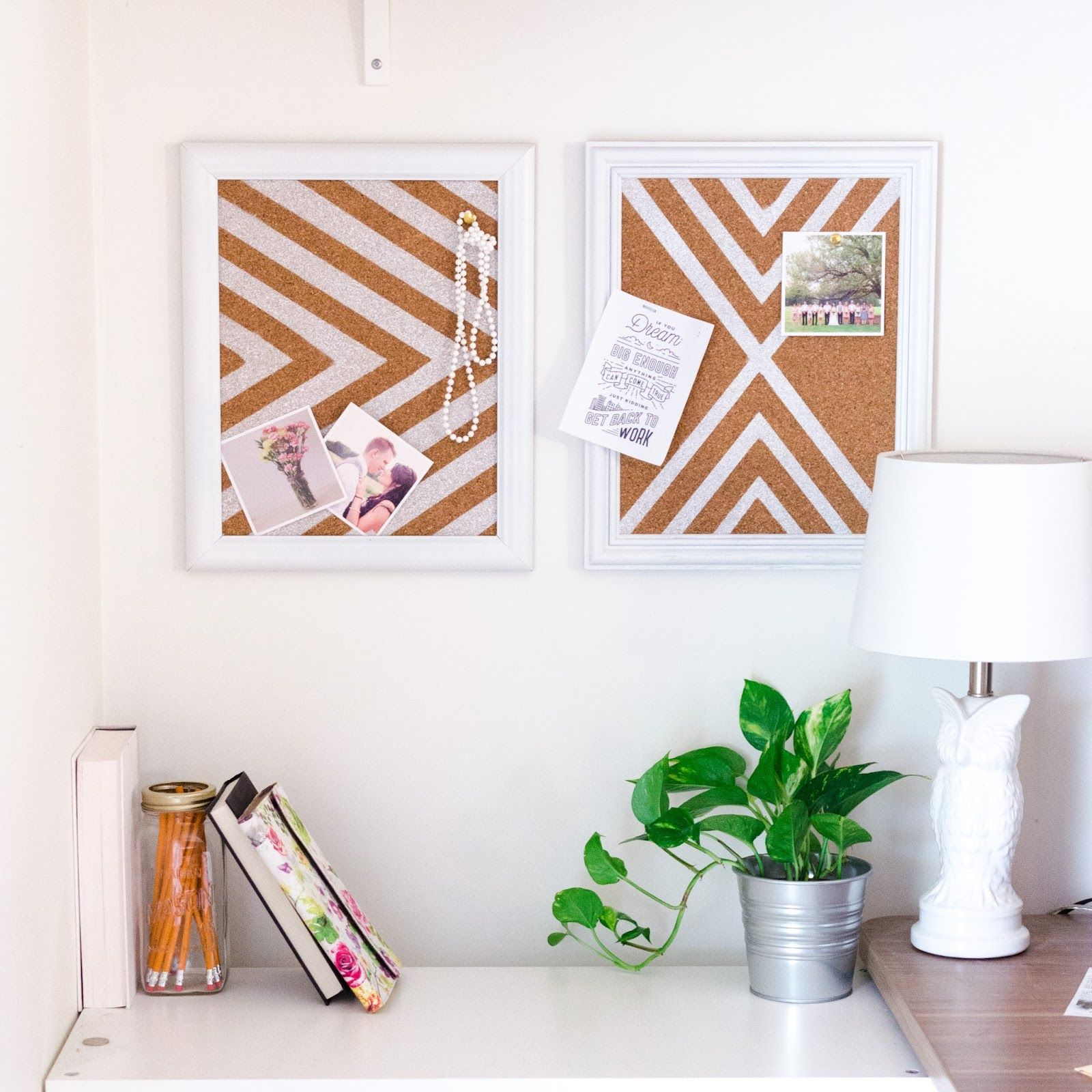 DIY patterned cork boards