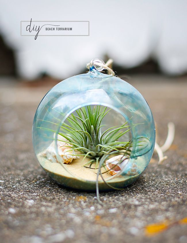 DIY tinted glass beach jar