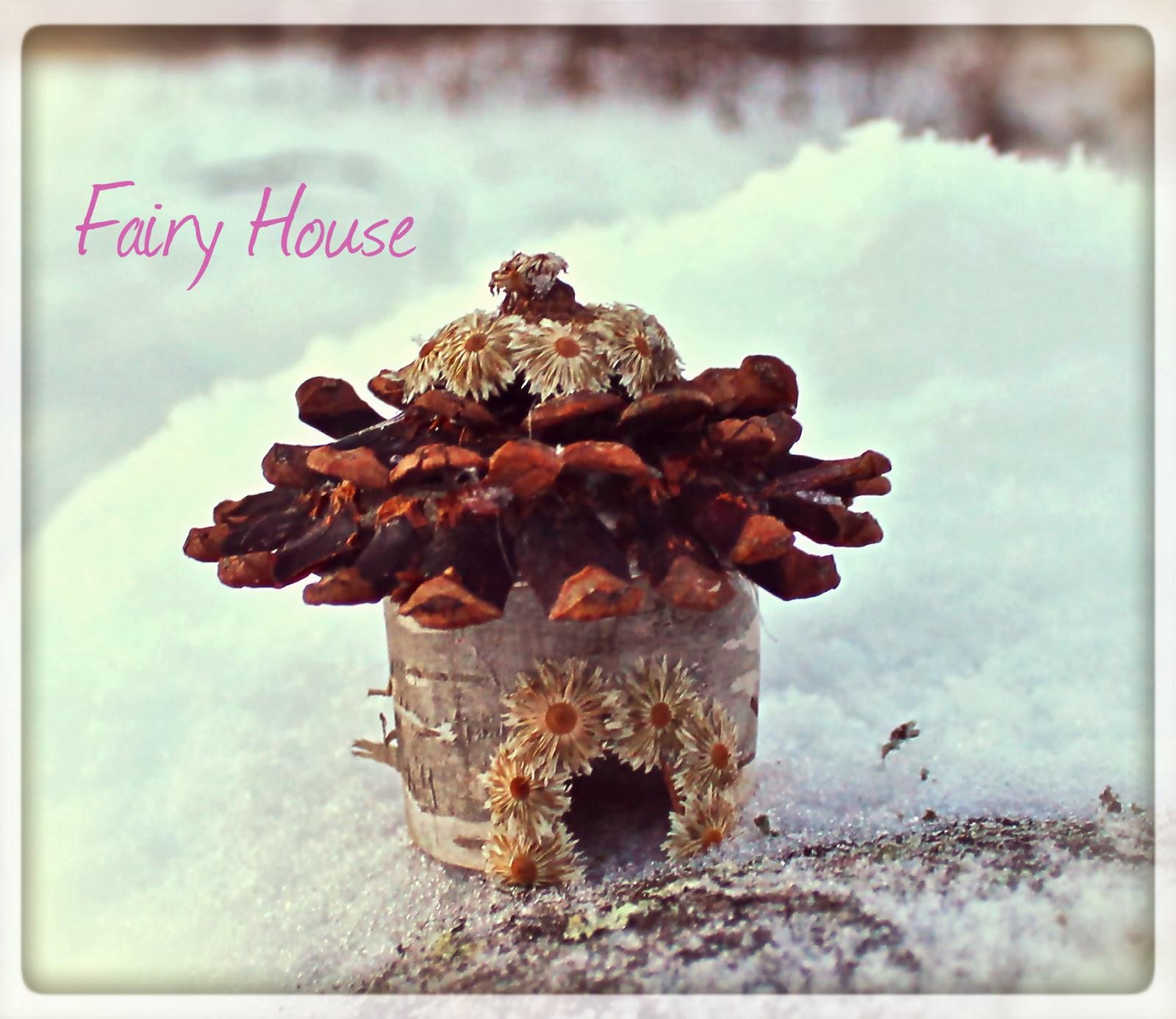 Magical Birch Fairy House