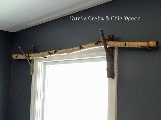 Nature inspired curtain rod
