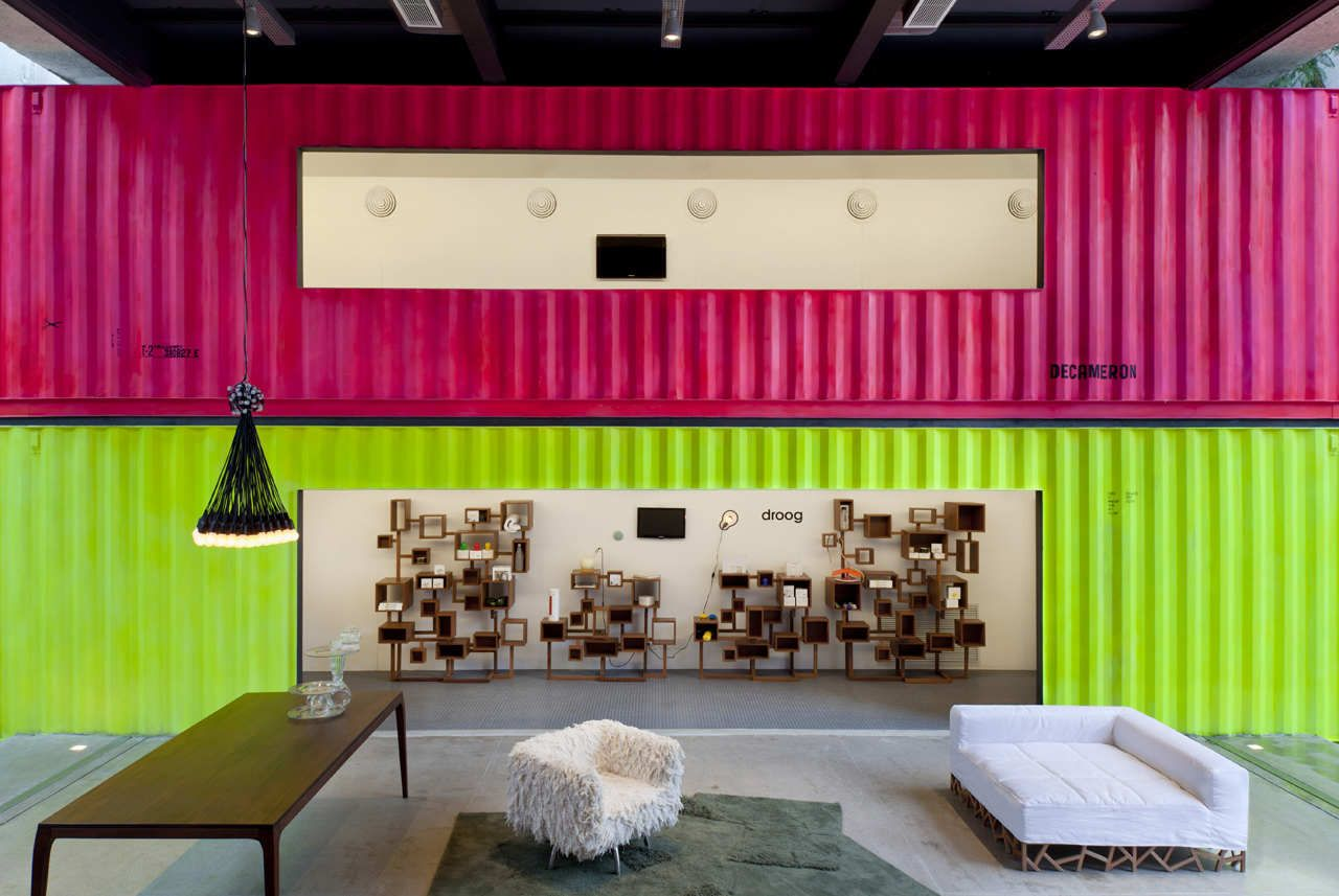 Painted Shipping Containers Decameron Marcio Kogan Interiors