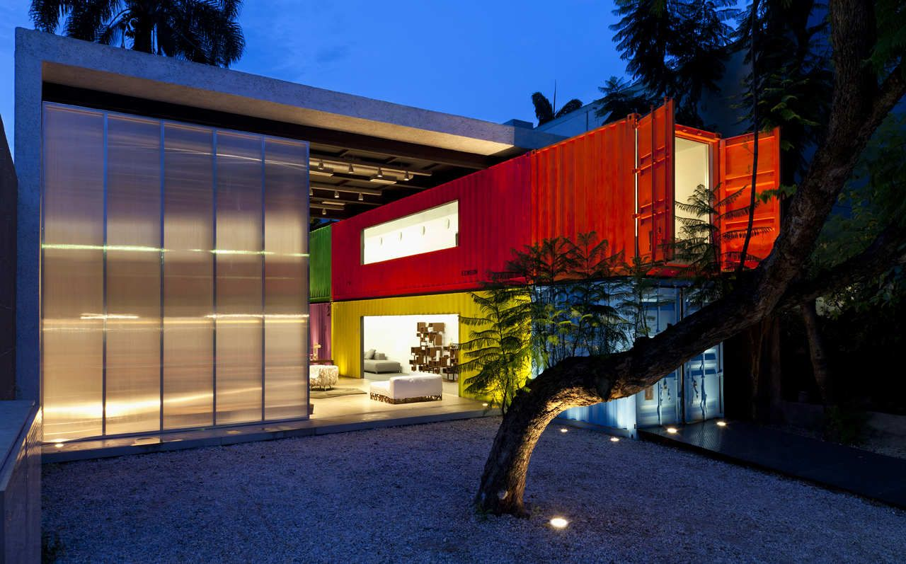 Painted Shipping Containers Decameron Marcio Kogan
