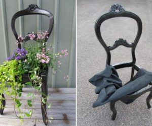 How To Cleverly Upcycle An Old Chair Into A Planter