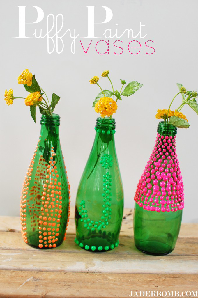 Puffy Paint vases tutorial