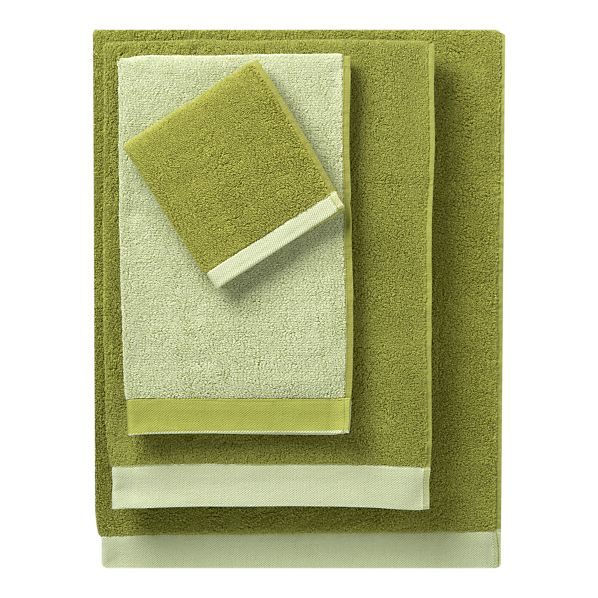Crate And Barrel Bath Rugs: Reversible Green Bath Towels From Crate And Barrel
